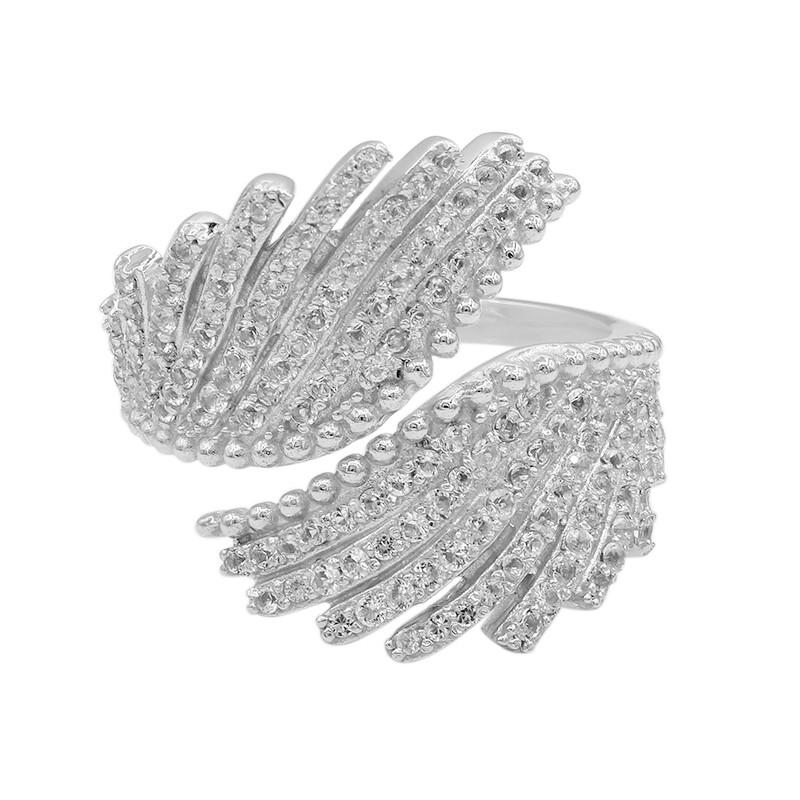 Weißer Topas-Silberring