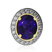 Sambia-Amethyst-Silberring (Dallas Prince Designs)