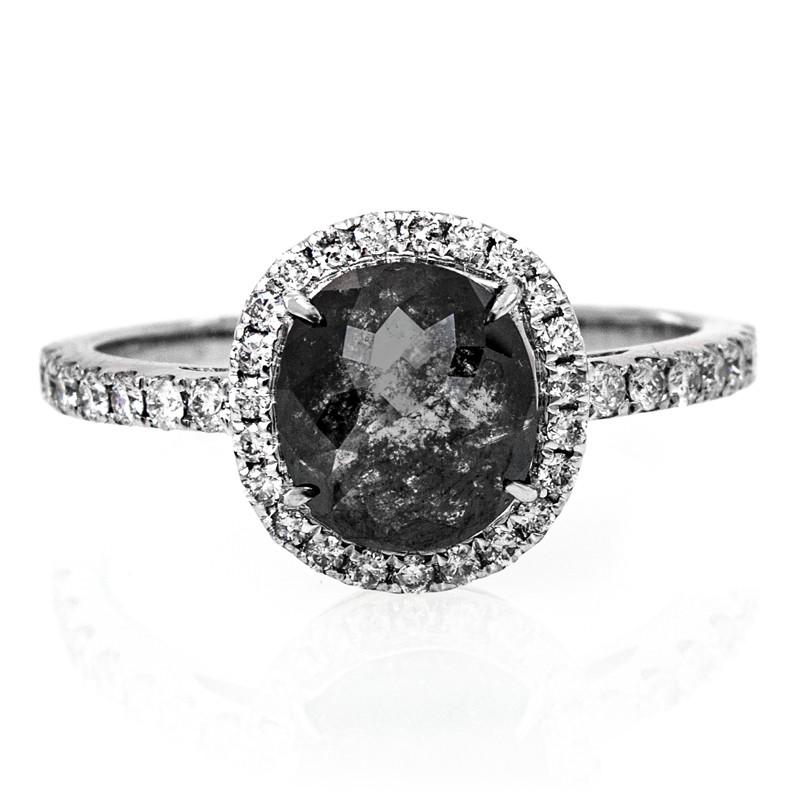 Schwarzer Diamant-Goldring (de Melo)