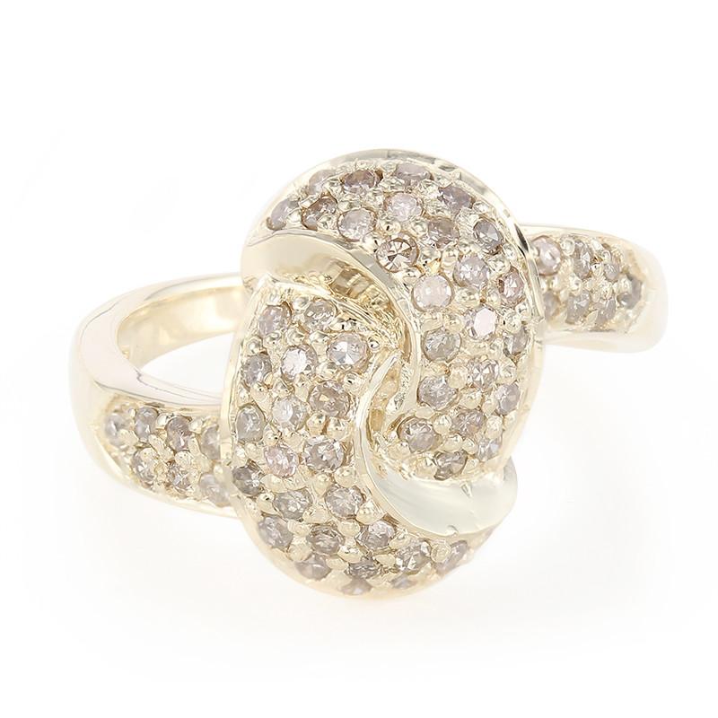Champagner-Diamant-Goldring