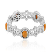 Orange Stachelauster-Silberring (Dallas Prince Designs)