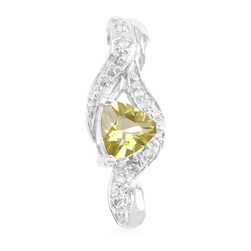 Xia-Apatit-Silberanhänger