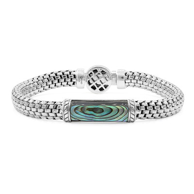 Abalone-Muschel-Silberarmband (Nan Collection)