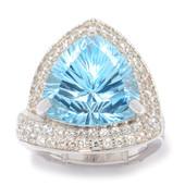 Himmelblauer Topas-Silberring (Dallas Prince Designs)