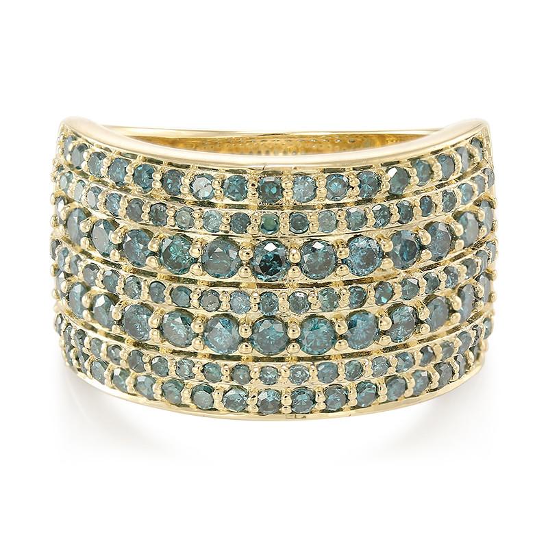 Königsblauer Diamant-Goldring