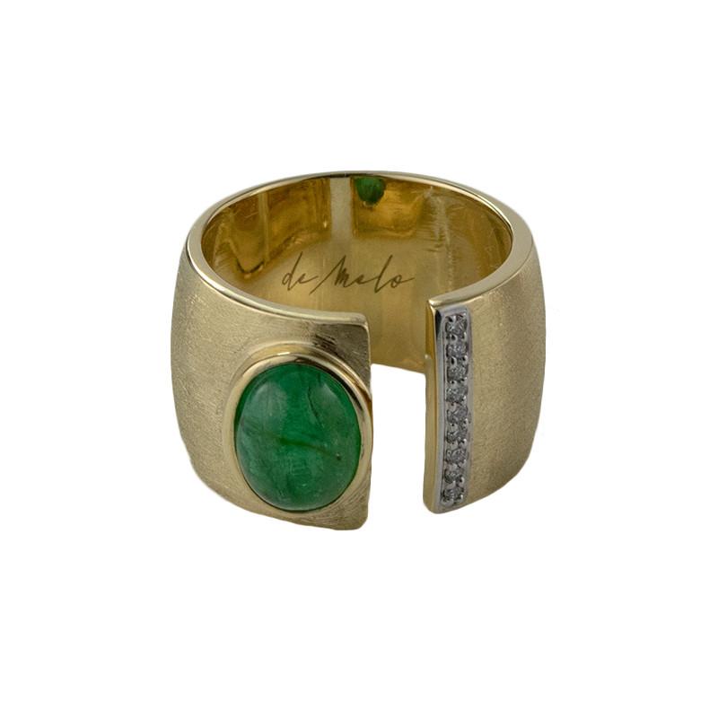 Brasilianischer Smaragd-Goldring (de Melo)