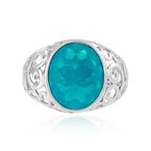 Karibikblauer Opal-Silberring