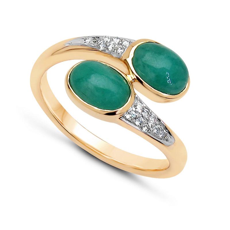 Smaragd-Goldring