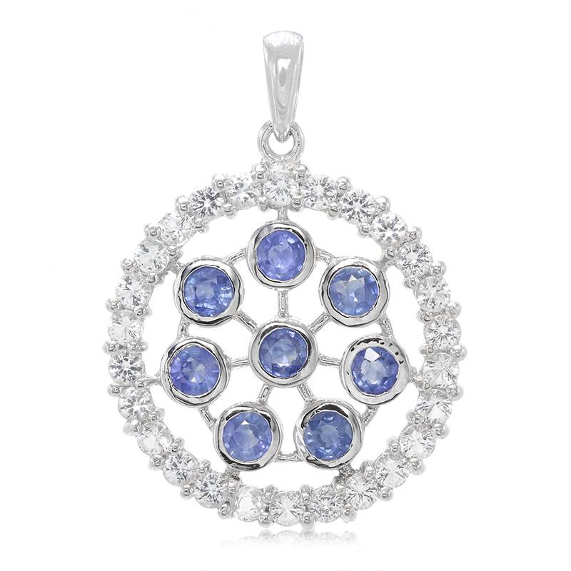 Kanchanaburi-Saphir-Silberanhänger