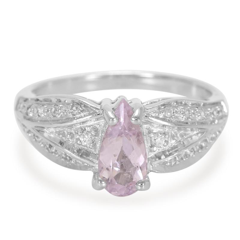 Pinkfarbener Kupfer-Turmalin-Silberring