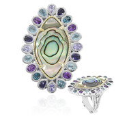 Abalone-Muschel-Silberring (Dallas Prince Designs)