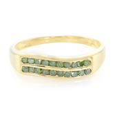 Smaragdgrüner Diamant-Silberring