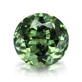 Namibia-Demantoid-Edelstein 0,95 ct in Sammler-Box