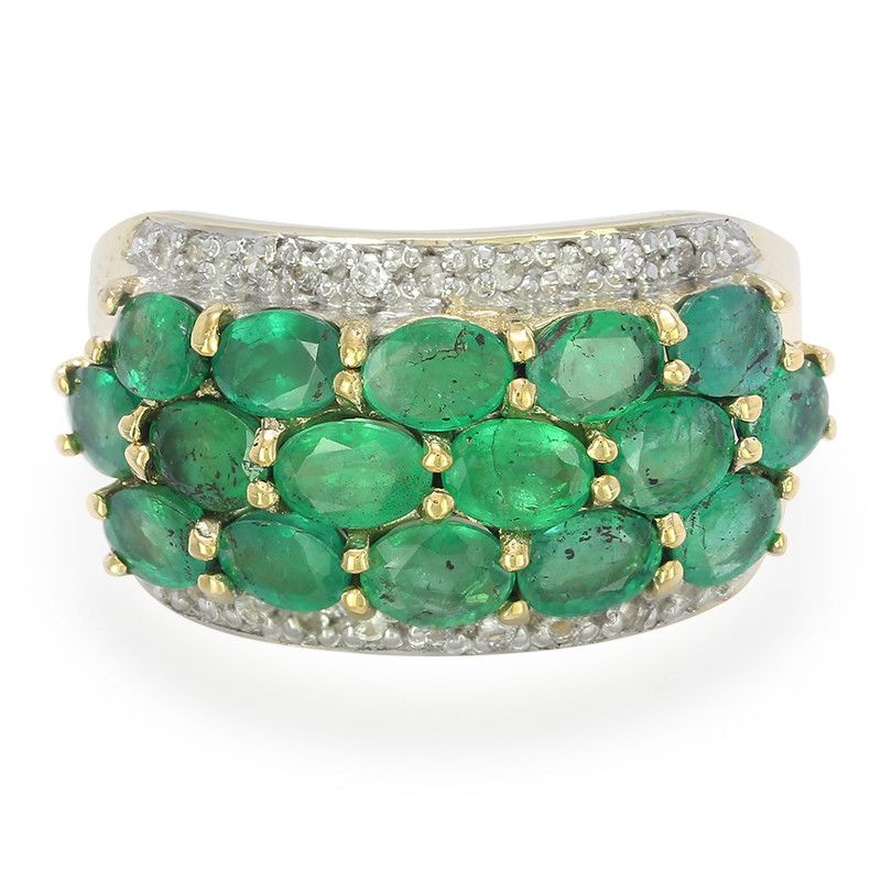 Bahia-Smaragd-Goldring