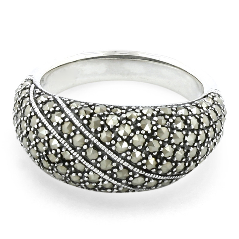 Markasit-Silberring