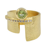 Peridot-Silberring (MONOSONO COLLECTION)