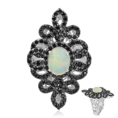 Welo-Opal-Silberring (Dallas Prince Designs)