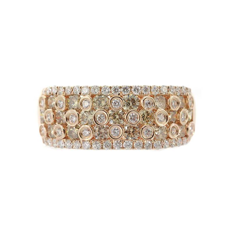 Natürlicher SI Argyle-Diamant-Goldring