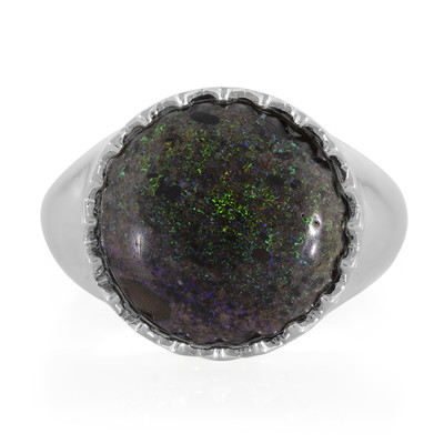 Matrix-Opal-Silberring