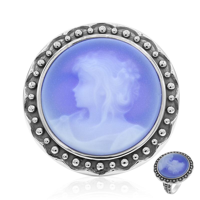 Ring Katzenring Silber einstellbare Legierungen blau S6H7