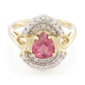 Pinkfarbener Kupfer-Turmalin-Goldring