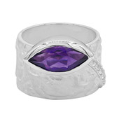 Sambia-Amethyst-Silberring (MONOSONO COLLECTION)