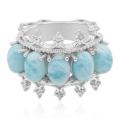 Larimar-Silberring (Dallas Prince Designs)