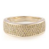 Goldgelber Diamant-Goldring