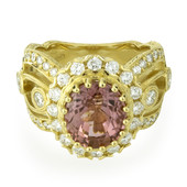 Pinkfarbener Turmalin-Goldring (Dallas Prince Designs)