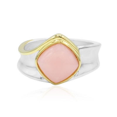 Pinkfarbener Opal-Silberring (MONOSONO COLLECTION)
