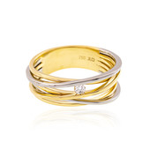 Lupenreiner (F) Diamant-Goldring (LUCENT DIAMONDS)