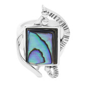 Abalone-Muschel-Silberring (MONOSONO COLLECTION)