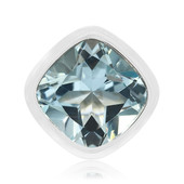 Himmelblauer Topas-Silberanhänger (MONOSONO COLLECTION)