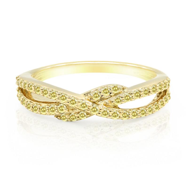 SI Kanariengelber Diamant-Goldring (Annette)