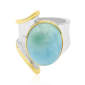 Larimar-Silberring (MONOSONO COLLECTION)