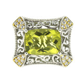 Ouro Verde-Quarz-Silberring (Dallas Prince Designs)