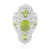 Peridot-Silberring (Dallas Prince Designs)