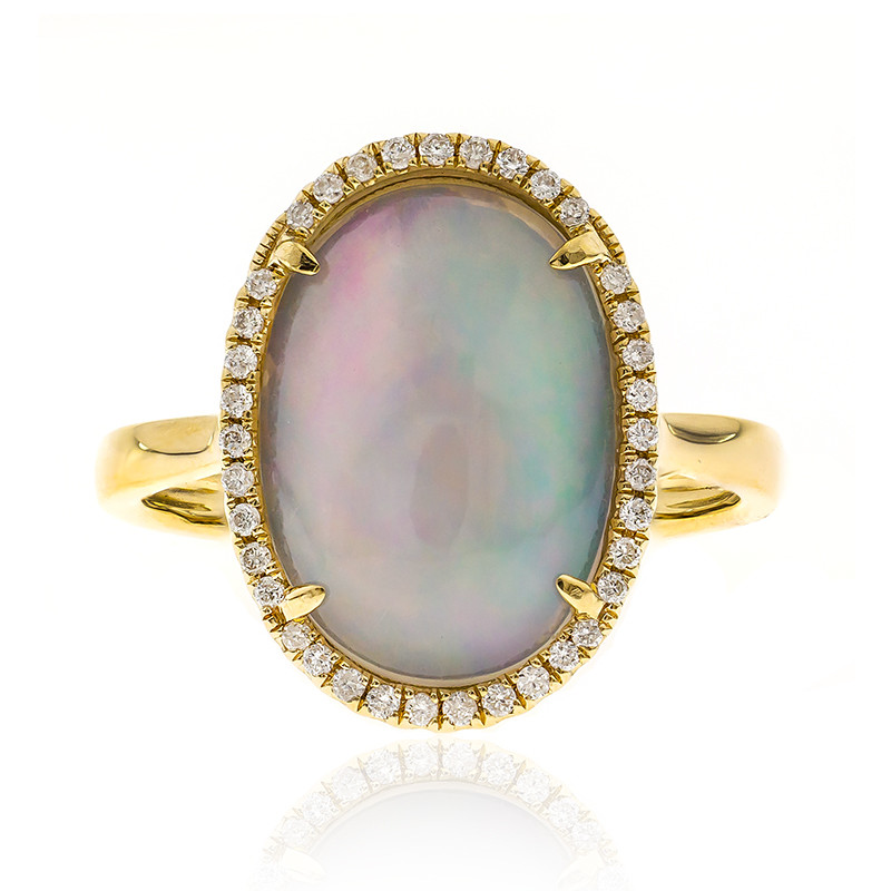 AAA Welo Opal Goldring (CIRARI) 3724QL | Juwelo Schmuck