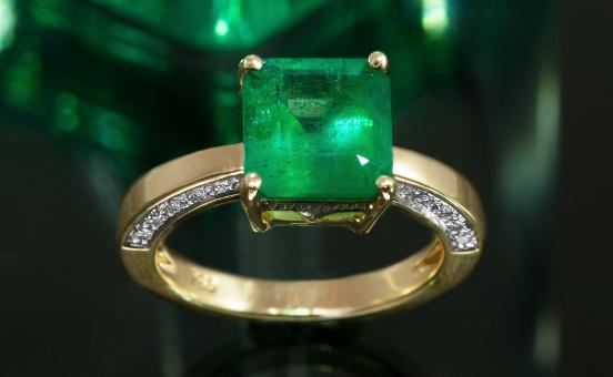 Kolumbianischer-Smaragd-Goldring
