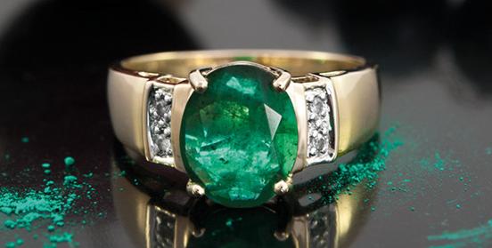 Socoto-Smaragd-Goldring