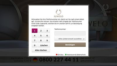 Juwelo-App Registrierung